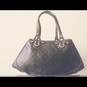 Gucci large leather tote guccissima